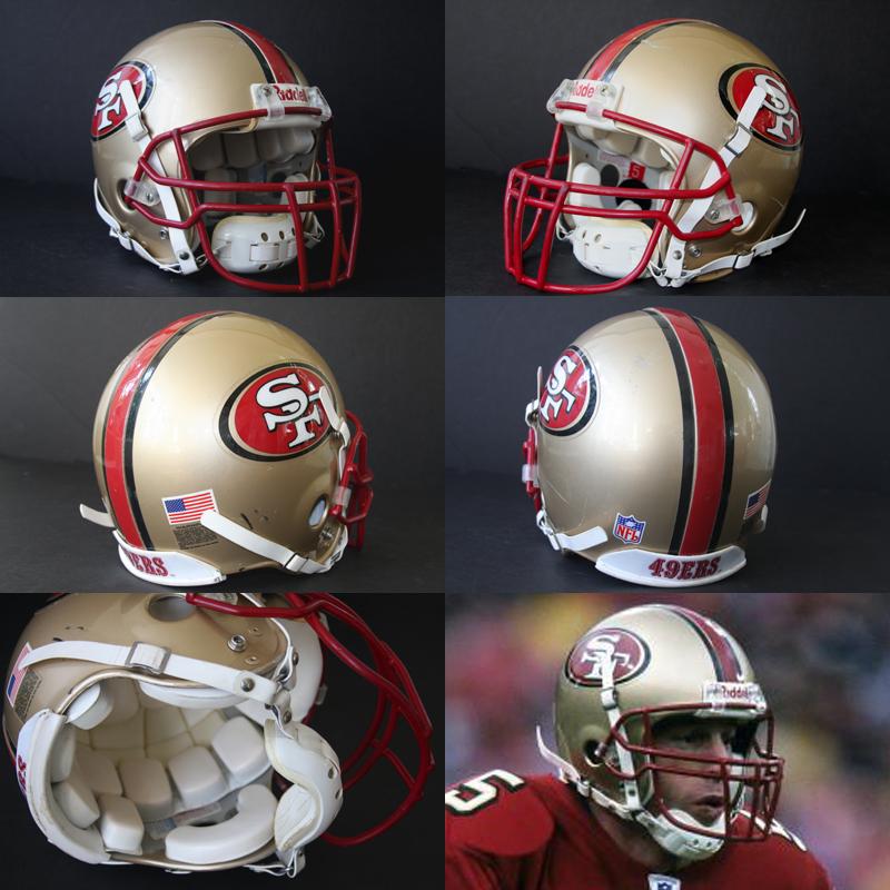 1ef7f6ad Real Stuff Sports Game Used Football Helmets