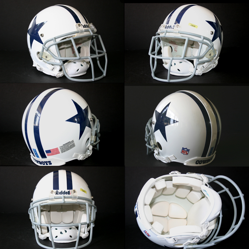 f94043c4b Game Used Aaron Glenn 2006 Dallas Cowboys Throwback Helmet