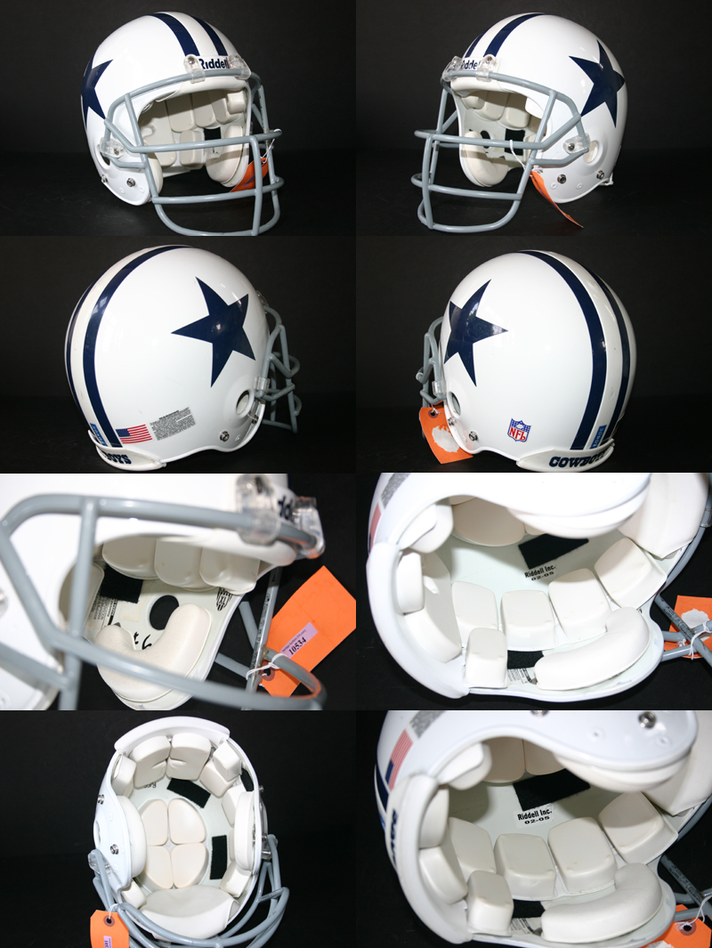 52aa1ccb6e7 Game Used Drew Bledsoe 2006 Dallas Cowboys Throwback Style Helmet